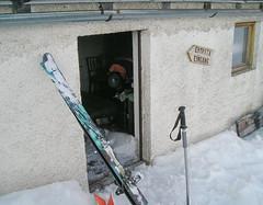 Pokój zimowy (Winteraum) w zmknietym schronisku Dusseldorfer Hutte (2721m)