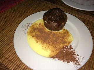 Tarta de chocolate caliente