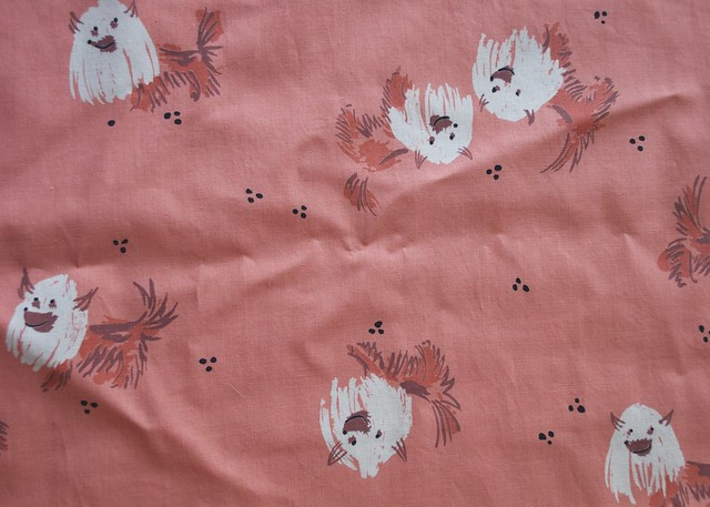 Detail of Vintage Shaggy Dog Fabric