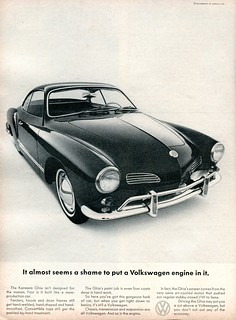 1965 Volkswagen Karmann Ghia Advertisement Road & Track March 1965