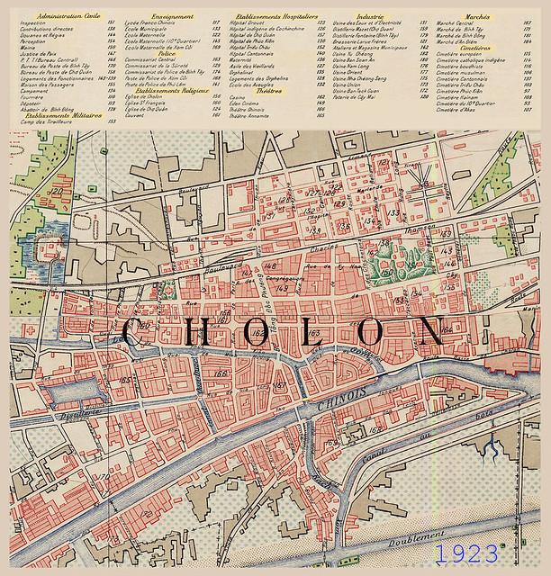 Bản đồ Cholon 1923