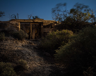 Miner's dugout cabin in the ghost town of Rosalie, Mojave National Preserve
