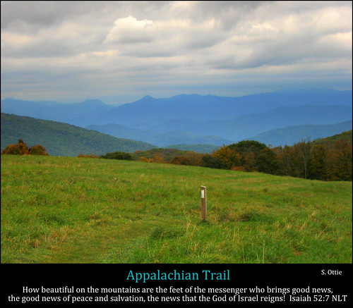 blue usa mountains fall nature grass clouds america landscape us nc united great north foliage ridge trail carolina marker states smoky appalachian smokies at