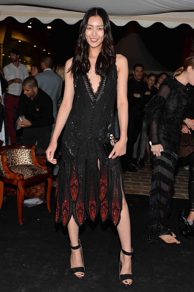 9 Liu Wen in Roberto Cavalli at Roberto Cavalli Dinner Party in Cannes