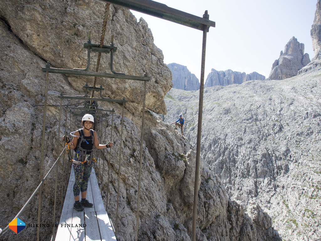 The Bridge on the Brigata Tridentina Via Ferrata