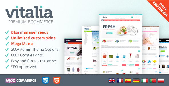 Vitalia v1.0 - Multipurpose WooCommerce Theme