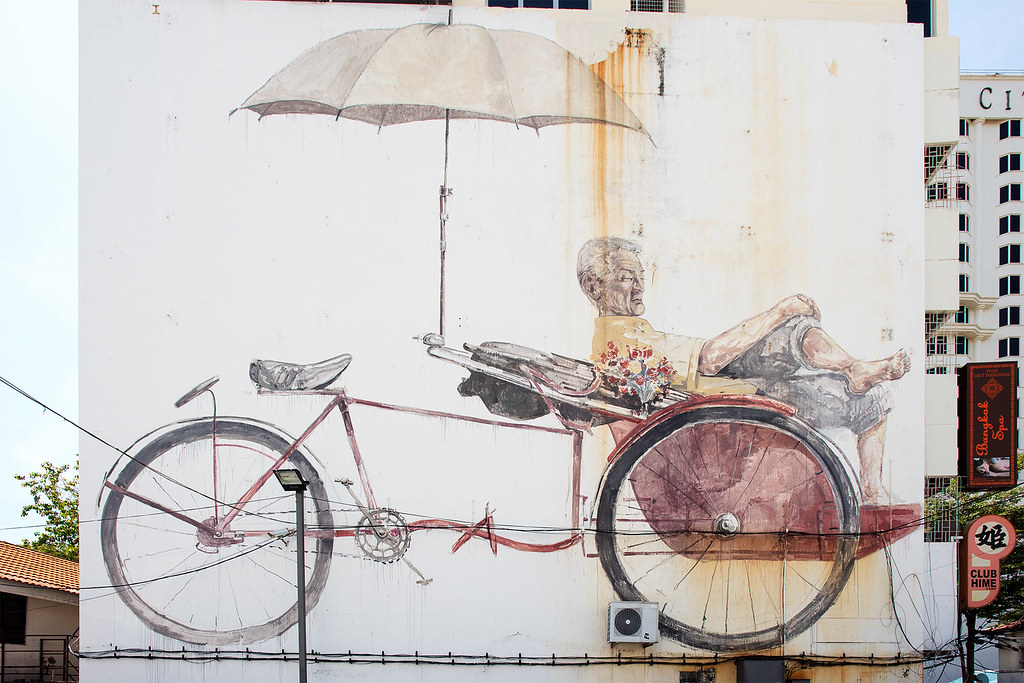 The Awaiting Trishaw Peddler, Artist: Ernest Zacharevic.