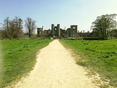 Cowdray ruins from down the path