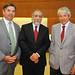 Felipe Celedón, gerente General de Sonami, Sergio Hernández, de Cochilco, y Alejandro Jadresic, decano de la Facultad de Ingeniería y Ciencias de la Universidad Adolfo Ibáñez.
