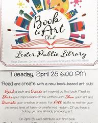 Book Art Club Coming in April