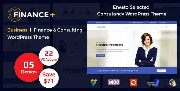 Finance+ WordPress Theme free download