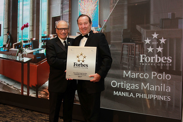 Forbes Travel Guide CEO Gerard Inzerillo and Marco Polo Ortigas  Manila G...