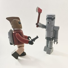 Lego MOC - Republic Robot vs The Rocketeer