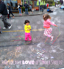 Jump for your love of Summer Streets! Alki 2013