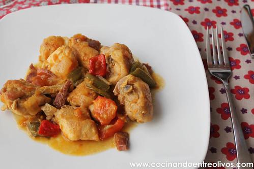 Pollo al chilindron www.cocinandoentreolivos (1)