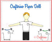 Crafterina Crafterino Paper Doll