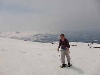 Snowshoe ascent up Asahidake