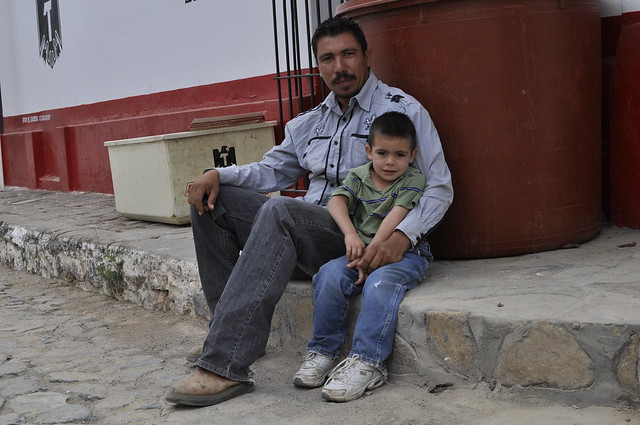 Raul Manriquez and his son