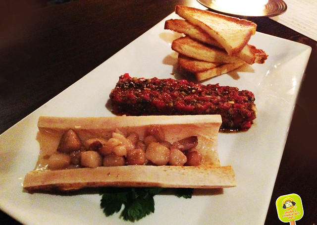 SAKAMAI - roasted bone marrow steak tartare