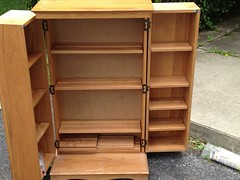 drawer(0.0), chiffonier(0.0), changing table(0.0), chest of drawers(0.0), chest(0.0), bookcase(0.0), desk(0.0), shelving(1.0), shelf(1.0), furniture(1.0), wood(1.0), cupboard(1.0), cabinetry(1.0),