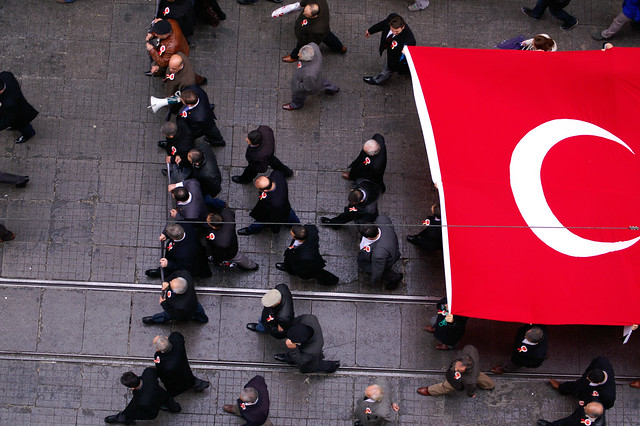 Demonstration on İstiklal, Istanbul (Turkey)