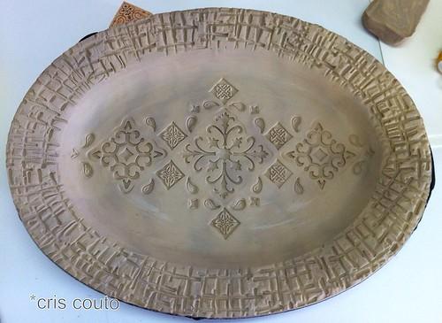 Oval em porcelana com carimbos by cris couto 73