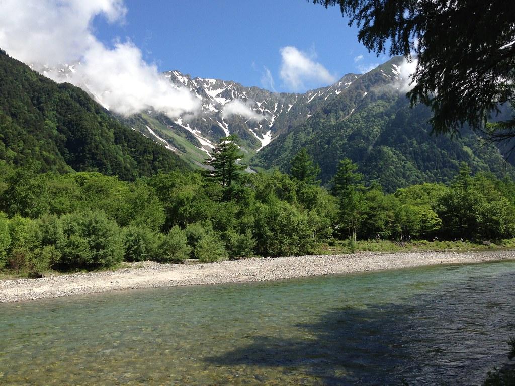 The Hodaka Mountains and the Azusa River