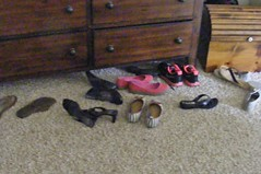 shoes in front of my dresser