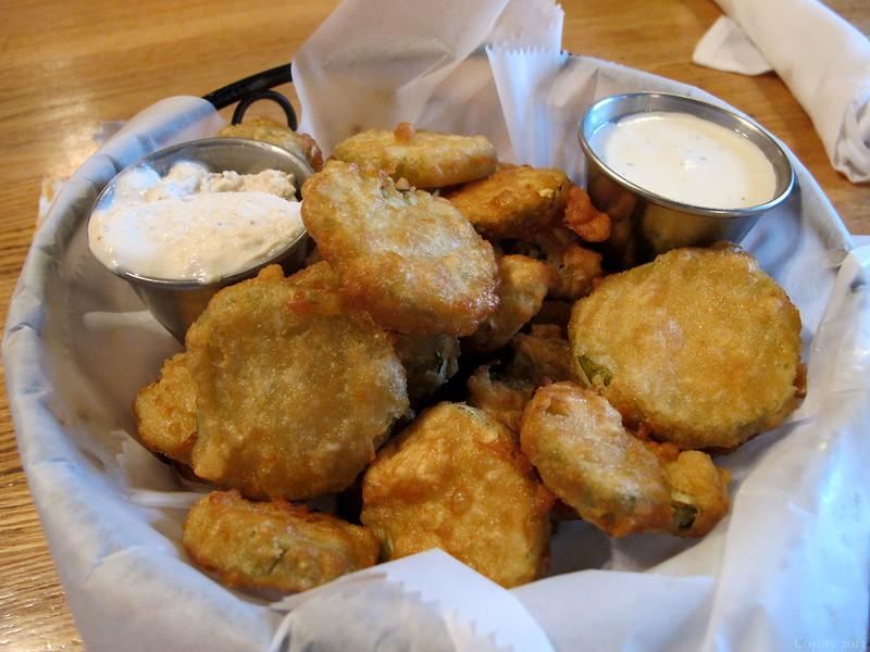 Deep-fried pickles