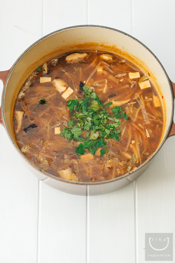Vegan Hot + Sour Soup Version 3