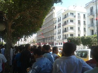 Downtown Tunis after Brahmi Assassination, July 25, 2013. Image credit: Farah Samti, Tunisia Live