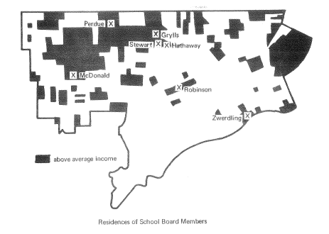 Detroit Map showing school board member bias