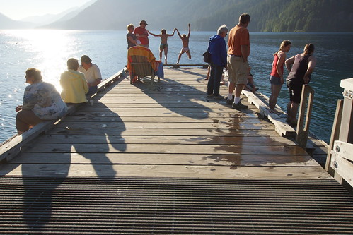 090_Olympic NP_072913_Swimming Pier at Lake Crescent