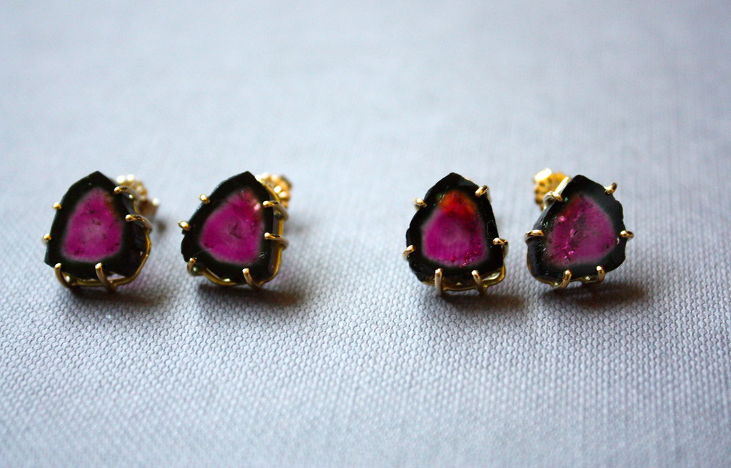ford ear rings stud john jewellery f earrings new tourmaline pink yellow gold