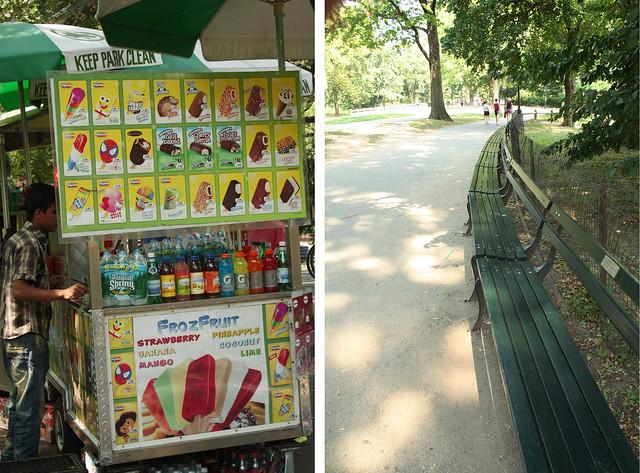 ice cream & benches