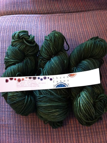 Incendia MCN worsted weight from Three Fates Yarns by BlueDragon2