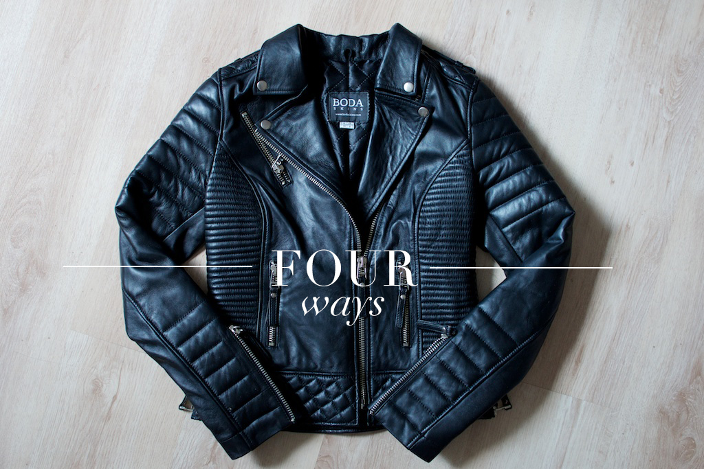 four ways leather moto jacket a pair and a spare