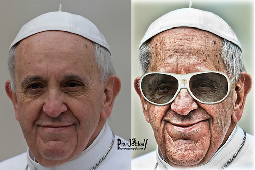 Pope Caricature BEFORE & AFTER