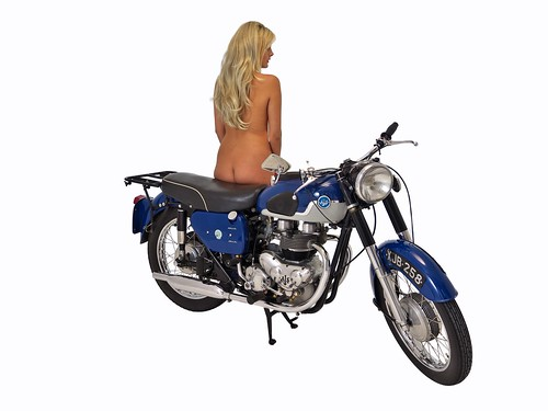 Girls on AJS and Matchless