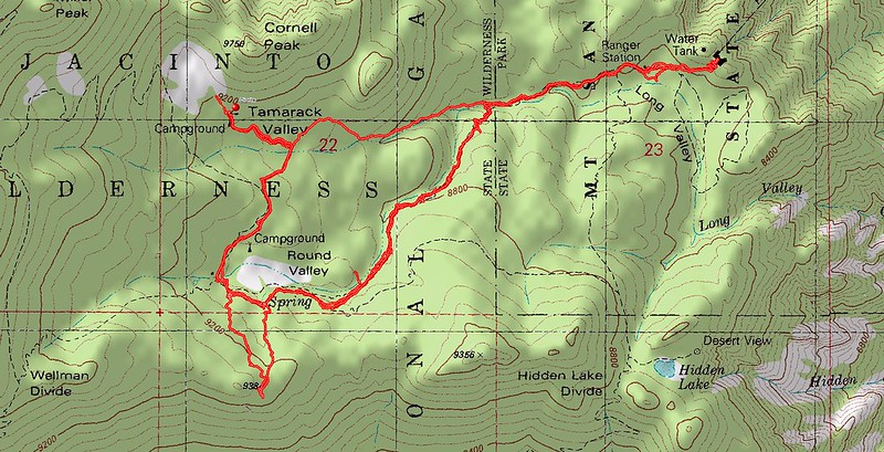 Delorme Topo Map and gps track
