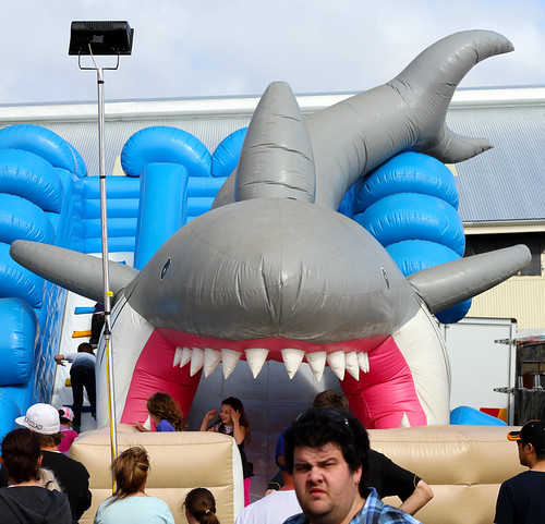 Perth Royal Show 2013 - Shark Mouth Is A Slide