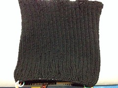 Rib Turtle Neck Sweater in Progress