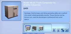 Model AA-23 Trash Compactor by Arasika Industries