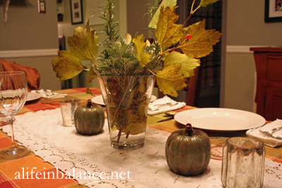 Thanksgiving Table Decorations: Thrifted, Natural, and Dollar Store Decor