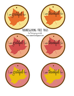 Thanksgiving Tree Tags