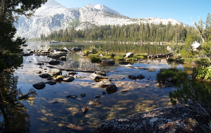 View from the outlet of the lowest of the McCabe Lakes