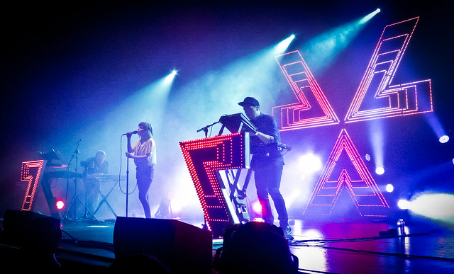CHVRCHES are Iain Cook, Martin Doherty and Lauren Mayberry