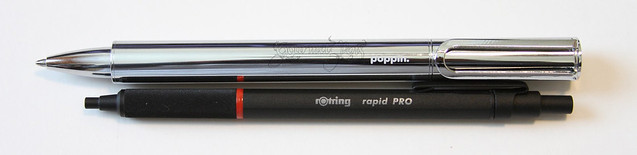 @poppin The Main Attraction Silver Pen With Magnetic Cap With rOtring