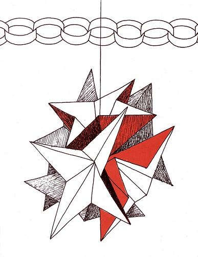 xmas paper star