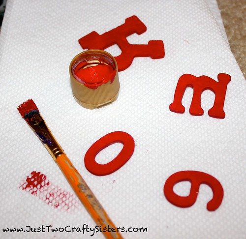 Making a DIY christmas word ornament